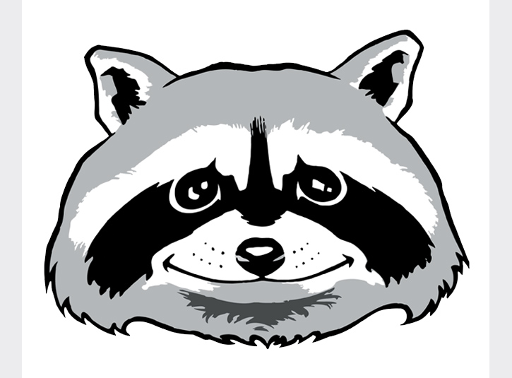 Raccoon for the Governor's Ranch Elementary PTA. Adobe Illustrator.
